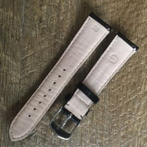 Michele Accessories - Black patent leather Michele 20MM watch band